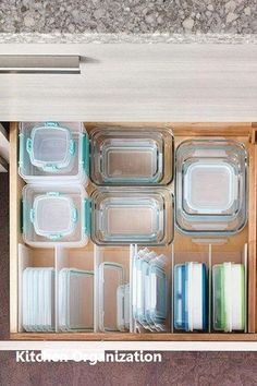 16 trendy kitchen organization tupperware tips Small Kitchen Organization, Diy Kitchen Storage, Diy Kitchen Decor, Kitchen Drawers, Kitchen Pantry, Diy Storage, Kitchen Ideas, Kitchen Layouts, Storage Ideas