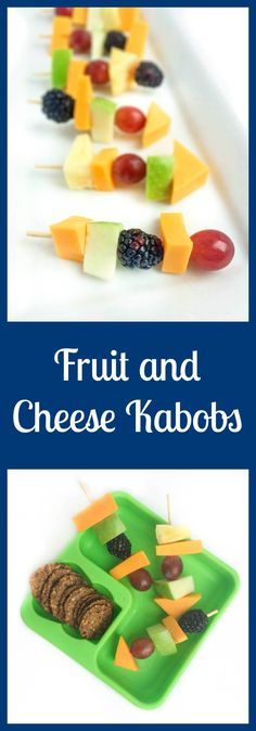 The perfect lunch box treat or after school snack, these fruit and cheese kabobs are kid-friendly and adult approved. From @thelemonbowl