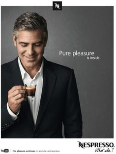 George Clooney Nespresso Ad - Pure Pleasure is inside!  Nice one George