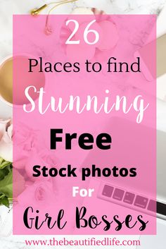 Feminine, girly, free stock photos can be challenging to find. That's why I put together this list of my absolutes faves. There are..
