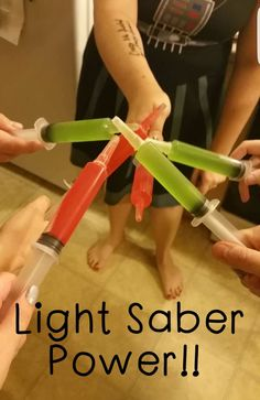 Star Wars Lightsaber Jello Shots for Adult Star Wars Party!! #starwars…