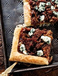 Recipe: Fig and Blue Cheese Tart. (Follow our other boards for detox, fitness, yoga and green living tips: pinterest.com/gaiam)