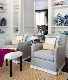 Built-in's, banding on chairs | Colleen McGill