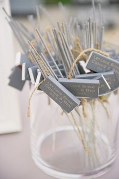 Wedding favours -sparklers