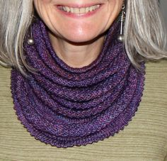 Willow Cowl (free pattern -- uses a skein of sock yarn!).