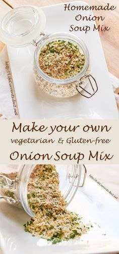 "Homemade Onion Soup Mix ~ It's so easy to make your own, and there are no ""questionable"" ingredients here! ~ from Life Currents"