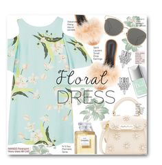 """Floral Dreamy Dress"" by voguefashion101 ❤ liked on Polyvore featuring MANGO, Alexander Wang, ZAC Zac Posen, Christian Dior and Yves Saint Laurent"