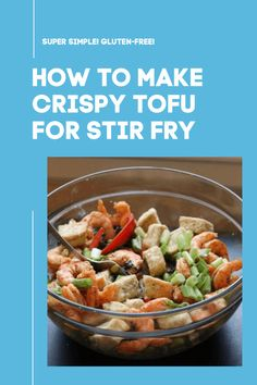 How to make easy crispy tofu for a stir-fry! It is much easier than you might think! And it's gluten-free. Abandoned Castles, Abandoned Mansions, Abandoned Places, Garlicky Shrimp, Shrimp Spring Rolls, Tofu Stir Fry, Extra Firm Tofu, Crispy Tofu, Salmon Cakes