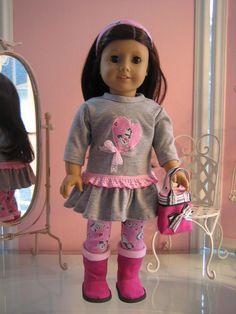 18 inch American Girl Doll Clothes /  Tshirt dress by MenaBella,