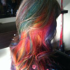 The lovely Jill Bliss. I want this rainbow hair. Stunning!