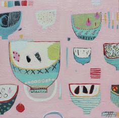 "Saatchi Art Artist Anna Hymas; Painting, ""Many Little Bowls"" #art"