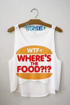 Where's the Food Crop Top - Fresh-tops.com