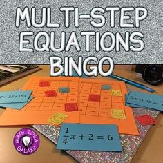 This Bingo game is a class activity that will get students practicing solving multi-step equations with integers and fractions. The whole class will be engaged while practicing this concept.