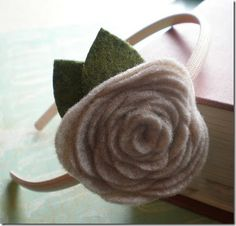 Fabric Bows and More: No Sew Felt Flower Headband by Design by Night
