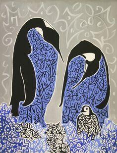 """""""Famili"""". Acylic on canvas, 2003. Dimensions: 90 x 70cm"""