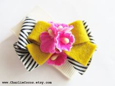 Girls/Baby Hair Clip Felt Bow Hair Clip Unique by CharlieCocos, $5.95