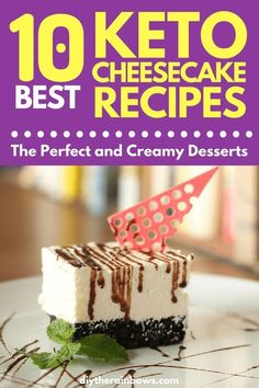 When you're on a keto diet, you have to be creative and make your own cakes to enjoy the goodness without the carbs! So read on as I show you the top 10 keto low-carb cheesecake recipes. Keto Foods, Low Carb Vegan Diet, Healthy Low Carb Dinners, Sugar Free Desserts, Low Carb Desserts, Dessert Recipes, Diet Recipes, Sauce Recipes, Stevia