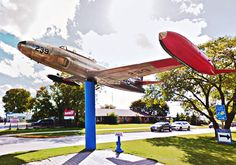 T-bird on a stick at Gimli, Manitoba. I checked my Logbook to see if I had flown Nope, but I have lots of hours in the previous one off the line at Cartierville. Silver Stars, Planes, Aviation, Aircraft, Bird, Airplanes, Air Ride, Airplane, Birds