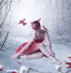 Winter Ballerina artFantasy Ballerina by EnchantedWhispersArt