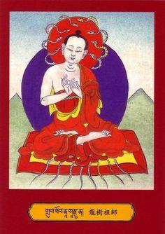 Mahasiddha Nagarjuna...Phakpa Gonpo Kludrup...(klu grub), Philosopher and Alchemist teacher of Aryadeva. he is credited with founding the Mādhyamaka school of Mahāyāna Buddhism