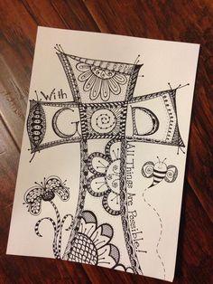 zentangle crosses | Cross Zentangle
