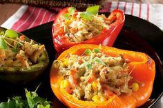Täytetyt paprikat - K-supermarket Tacos, Mexican, Stuffed Peppers, Vegetables, Ethnic Recipes, Food, Meal, Stuffed Pepper, Eten