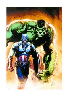 Marvel Comics - Stan Lee Captain America & Hulk
