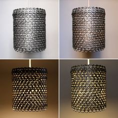 zipper8lighting, sustainable design, recycled materials, green lamps, eco design, eco-friendly lamps, soda can lampshades, green design, etsy #upcycle