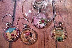Whimsical Fairytale Wine Glass Charms - Set of 4