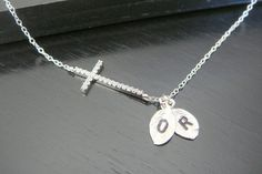 SALE Sterling Silver Personaliozed Initial Crystal by ElegantSwan, $29.99