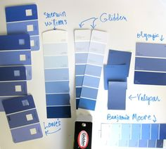 DIY Home Staging Tips: Pick a Paint Color with Personality -- Periwinkle Periwinkle Bedroom, Periwinkle Color, Dark Paint Colors, Interior Paint Colors, Split Complementary Colors, Home Staging Tips, Sell Your House Fast, Room Paint, Room Colors