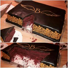 red velvet cake  Ganache  Motivtorte fondant  Logo Blutengel