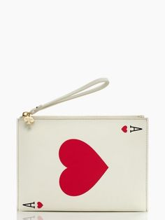 Kate Spade Place Your Bets medium bella wristlet. corral the stray bobby pins, lipsticks, hair ties and more that make their way to the bottom of your bag with our medium bella pouch, inspired by the razzle dazzle of old-world vegas.