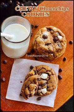 Resep Chewy Chocolate Cookies ala New York Times -trial oleh Tintin Rayner Chewy Chocolate Cookies, Almond Cookies, Cokies Recipes, Chiffon Cake, Indonesian Food, Diy Food, New York Times, Cravings, Biscuits