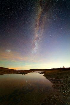 The Milky Way over a Tidal Pool by lrargerich on Flickr.