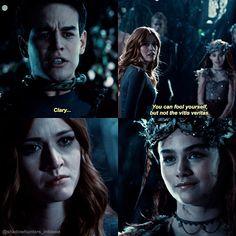 """#Shadowhunters 2x14 """"The Fair Folk"""" - Simon, Clary and Seelie Queen"""