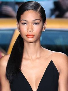 20 Trendy Chanel Iman Hairstyles & Haircuts -That will Inspire You ! Side Swept Hairstyles, Spring Hairstyles, Retro Hairstyles, Elegant Hairstyles, Ponytail Hairstyles, Hairstyles Haircuts, Straight Hairstyles, Casual Hairstyles, Elvish Hairstyles