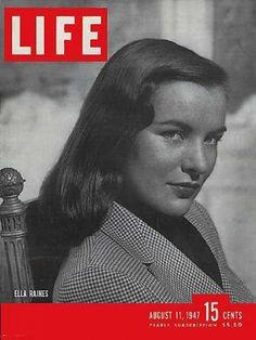 Life Magazine, August 11, 1947 - Ella Raines