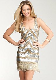 Who doesn't love sparkles?!?!  Sequin & Bead Tank Dress at bebe