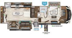 4 Door Refrigerator, Grand Design Rv, Fifth Wheel Toy Haulers, Medium Duty Trucks, Roof Ladder, Trailer Plans, Built In Ovens, Theater Seating