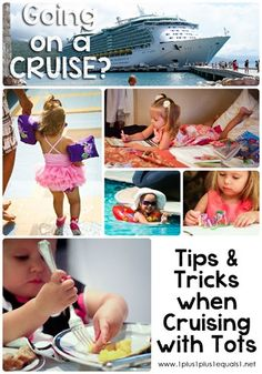 Cruising with Young Kids ~ Tips and Tricks from @Carisa {1plus1plus1}. Learn all about kid-friendly cruise lines, what amenities you should look for and other things to think of when booking a cruise like sleep arrangements, room types, food and more!