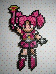 Sailor Chibi Moon Perler Bead Art by KandyJill on Etsy