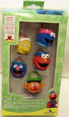 SESAME STREET ORNAMENTS New $19.99