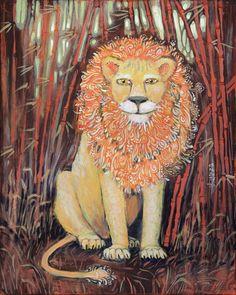 Цветущий лев в бамбуковой роще – hrustall