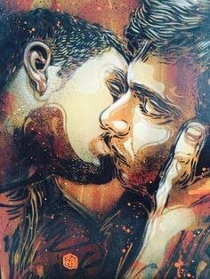 """""""Love"""" by artist C215. Amsterdam. *C215, is the moniker of Christian Guémy, a French street artist hailing from Paris who has been described as """"France's answer to Banksy""""."""