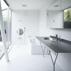 Clean modern bathroom