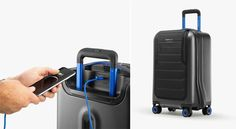 Get ready to travel stylishly and conveniently with Bluesmart's original, iconic smart suitcase: Bluesmart One!