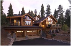 doesn't get much better than a log cabin in the woods