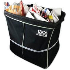 JACO TrashPro Car Trash Can - Premium Leakproof Litter and Garbage Bag plus Organizer by JACO Superior Products Trash Can For Car, Car Trash, Trash Bag, Heavy Duty Velcro, Garbage Containers, Premium Cars, Garbage Can, Jaco, Car Cleaning