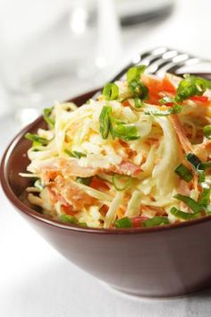 A crunchy high-protein cabbage and pumpkin seed cole slaw salad with a Thai peanut sauce-inspired dressing made of peanut butter, sesame oil and soy sauce. If you want an alternative to the traditional mayonnaise-based cole slaw recipes, this is a good one to try. Vegetarian with vegan option.